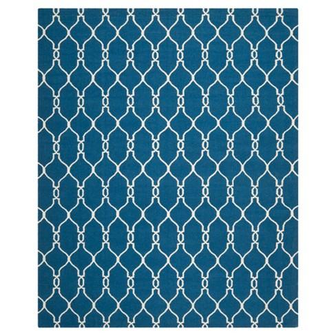 Dhurries Rug - Dark Blue - (9'x12') - Safavieh - image 1 of 5