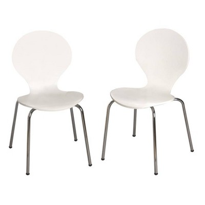Set of 2 Kids' Bentwood Chairs with Chrome Legs - Gift Mark