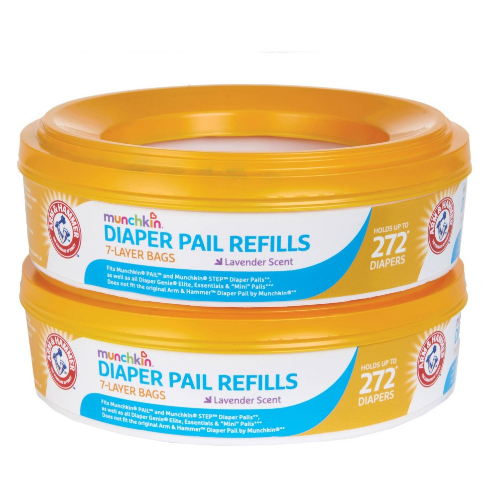 Image of Munchkin Arm & Hammer Diaper Pail Refill Rings- 2pk/544ct