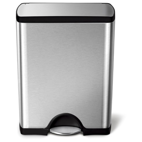 Simplehuman 50 Liter Rectangular Step Trash Can, Fingerprint-Proof Brushed Stainless Steel - image 1 of 3