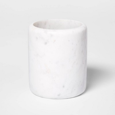 Marble Utensil Holder White - Threshold™