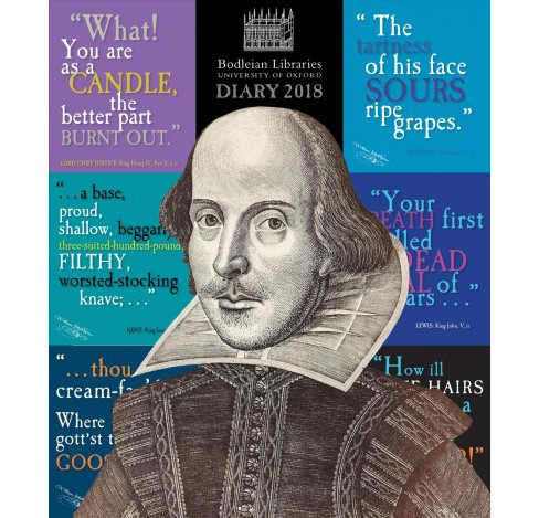 Bodleian Library Shakespeare's Insults 2018 Diary (New) (Hardcover) - image 1 of 1