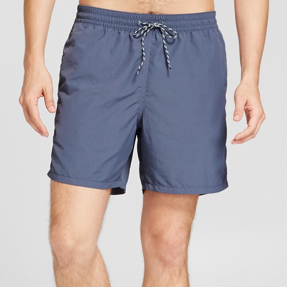 Men's 6 Elastic Waist Nylon Single Panel - Goodfellow & Co Geneva Blue M