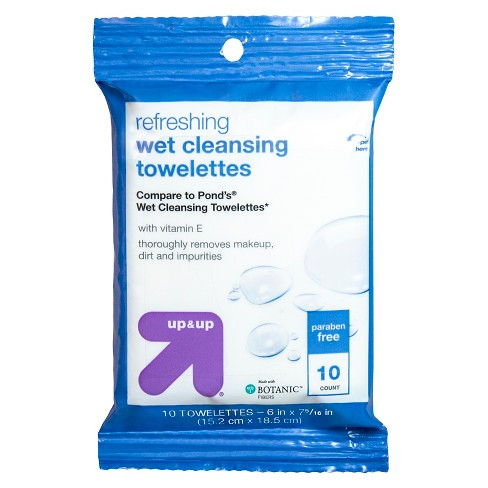 Facial Wipes - 10ct - Up&Up™ (Compare to Pond's Wet Cleansing Towelettes) - image 1 of 3