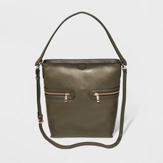 Zipper Hobo Handbag - A New Day™ Olive
