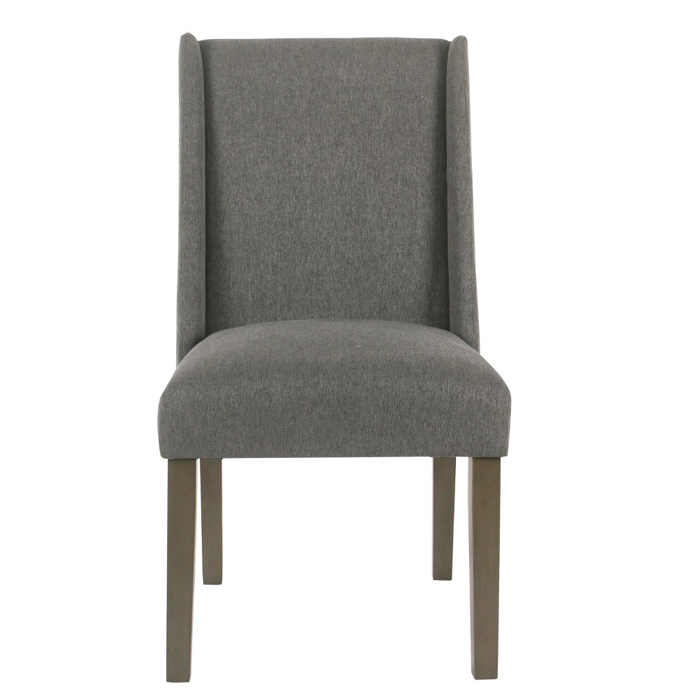 (Set of 2) Dinah Modern Dining Chair Pewter (Silver) - Homepop