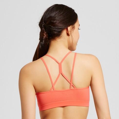 9aed5b7004b1a Women s Strappy Seamless Jacquard Bralette - Xhilaration™ - Sunbeam Pink S    Target