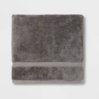Perfectly Soft Solid Bath Towel Dark Gray - Opalhouse™