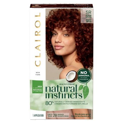 Natural Instincts Clairol Non-Permanent Hair Color - 5R Medium Auburn,  Cinnaberry - 1 kit