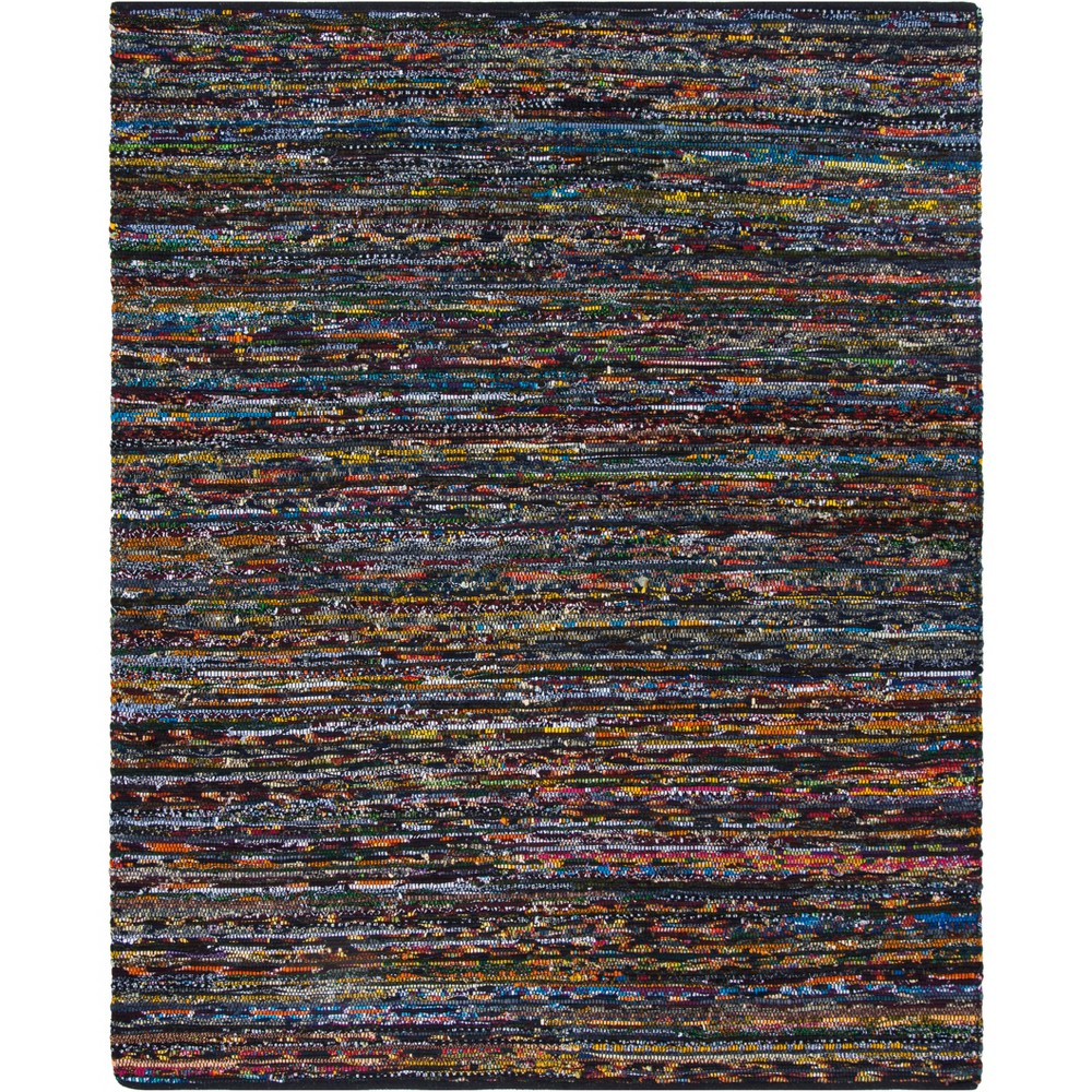 8'X10' Spacedye Design Woven Area Rug Black/Red - Safavieh