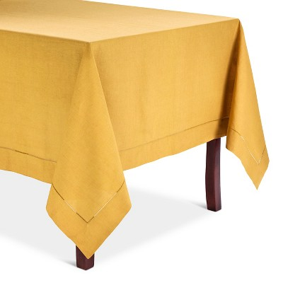 Hemstitched Tablecloth Mustard (90  Round)