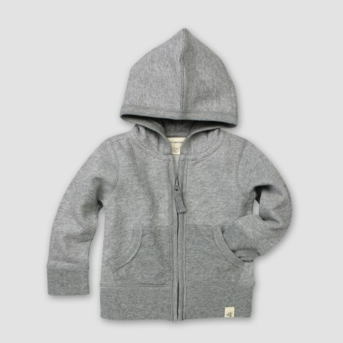 Burt's Bees Baby® Organic Cotton Loose Pique Hoodie - Heather Gray - image 1 of 1