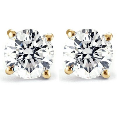 Pompeii3 Screw Back 1 Ct T.W. Genuine Diamond Studs Available in 14k White or Yellow Gold