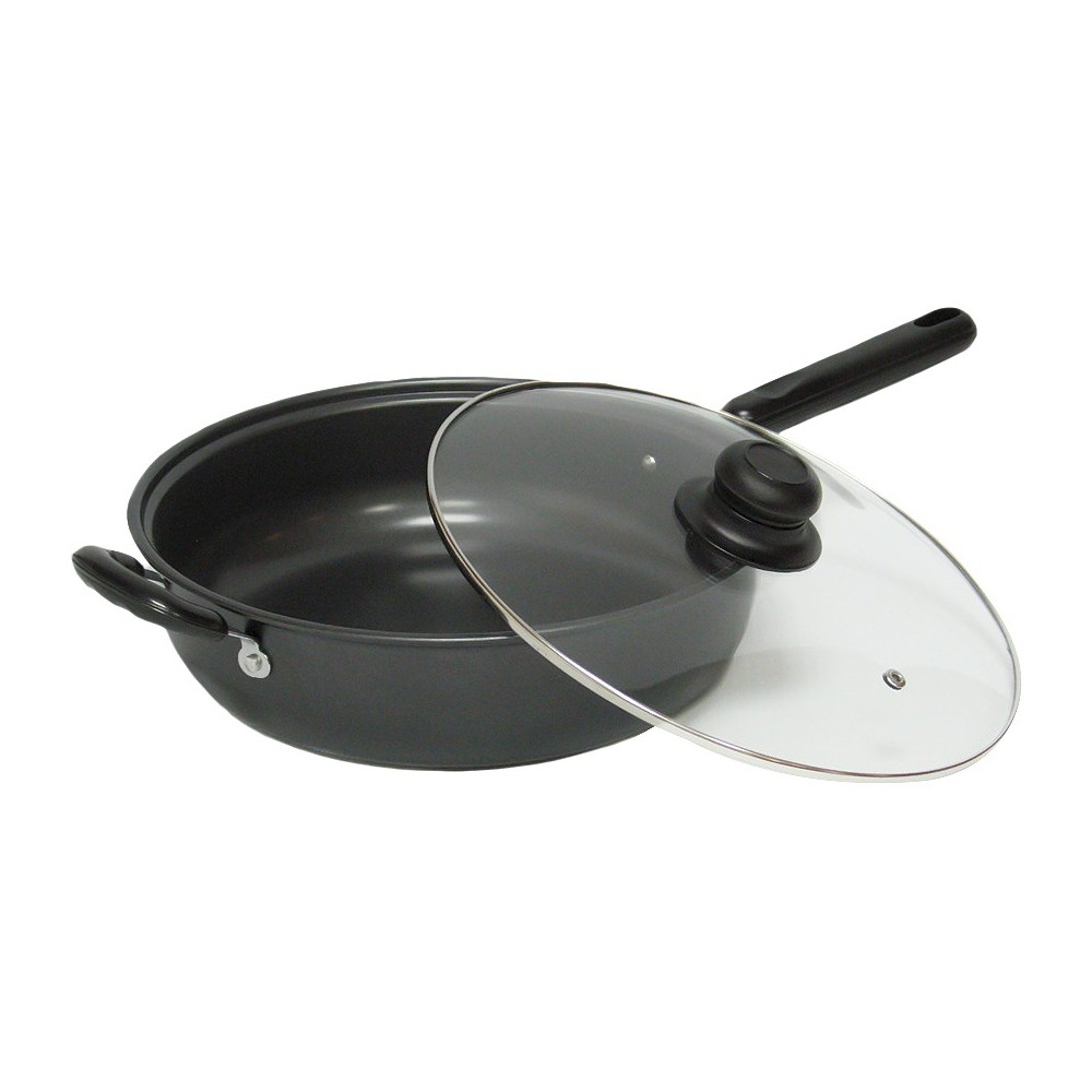 Image of Gourmet Chef 12 Inch Chicken Fryer - Black