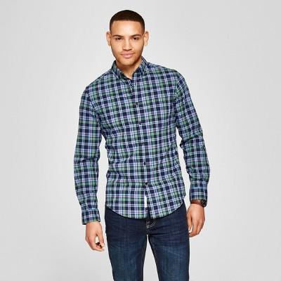 dac204169e5 Men's Slim Fit Northrop Long Sleeve Button-Down Shirt - Goodfellow & Co™  Cyber