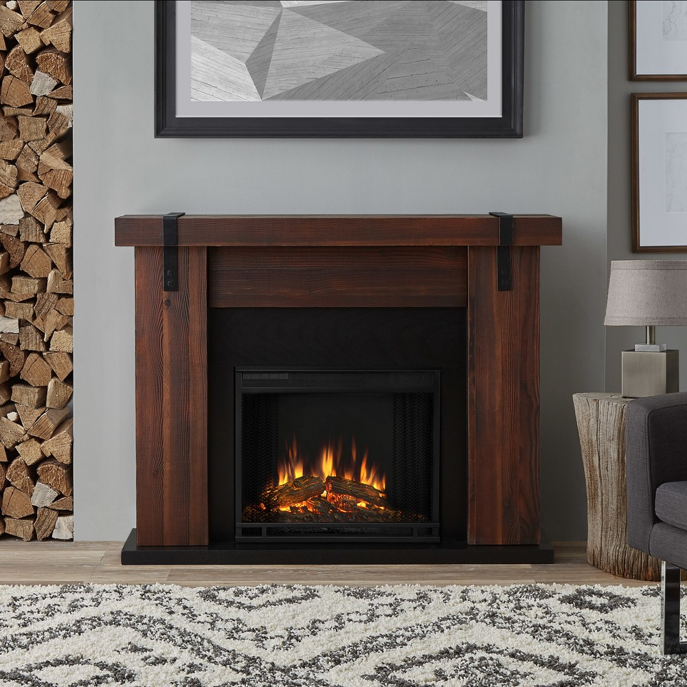 Real Flame Aspen Indoor Electric Fireplace - Walnut (Brown) Barnwood
