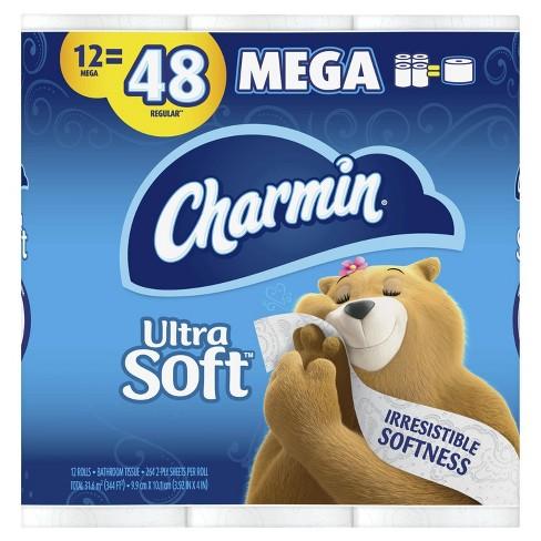 Charmin Ultra Soft Toilet Paper 12 Mega Rolls Target