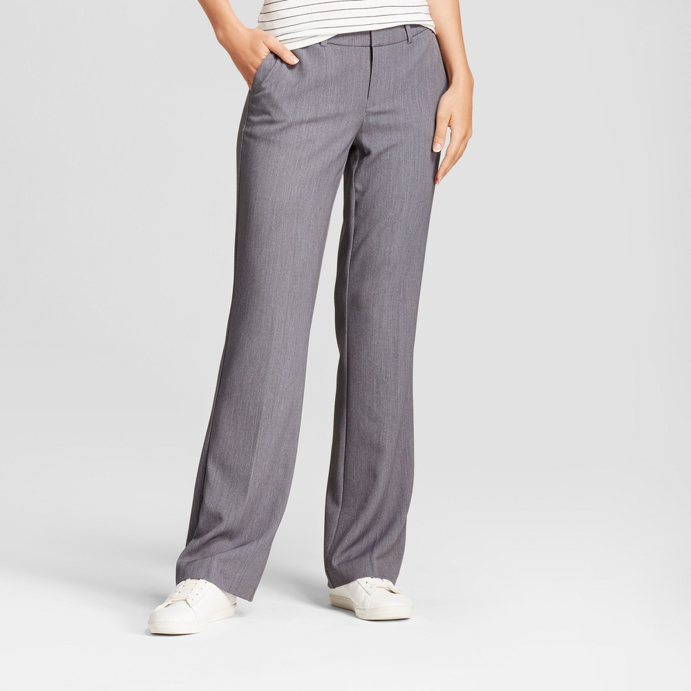 Women's Flare Bi-Stretch Twill Pants - A New Day Gray 2L, Size: 2 Long