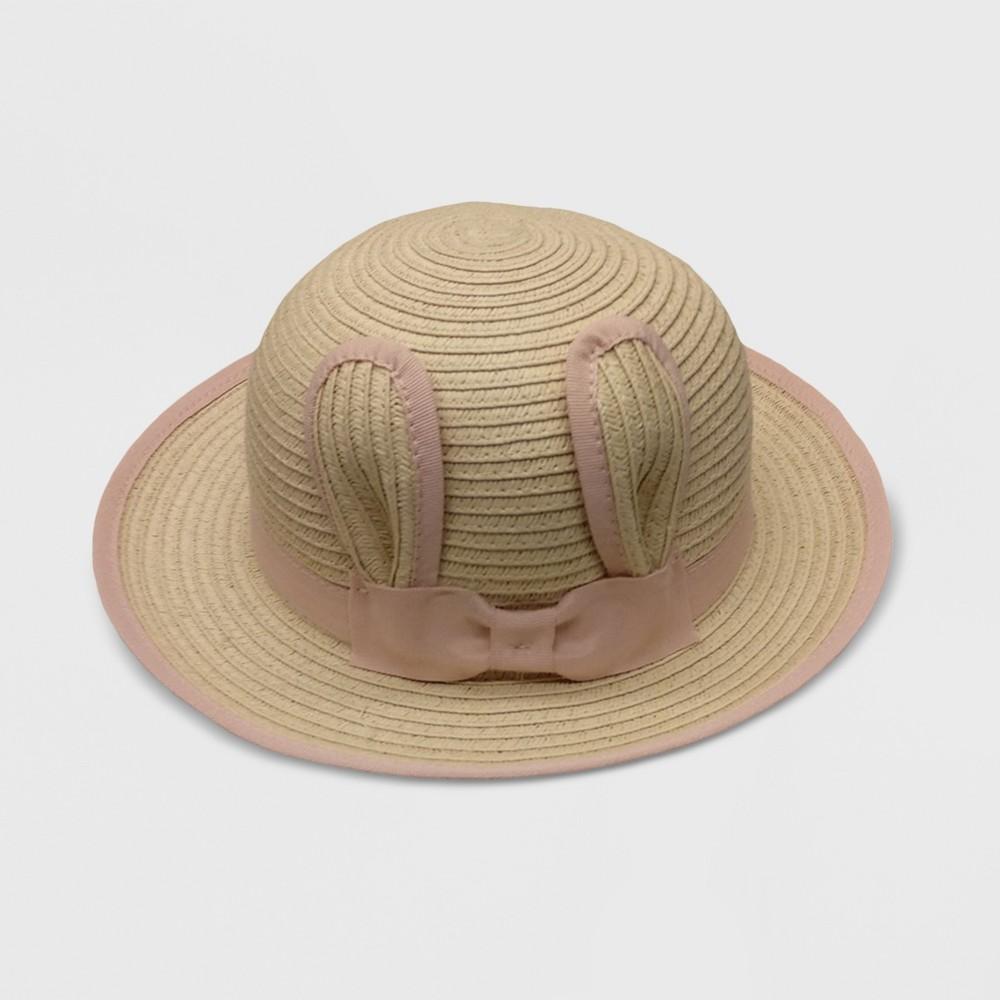 Baby Girls' Unisex Critter Floppy Hats - Cat & Jack Beige/Pink 0-6M, White