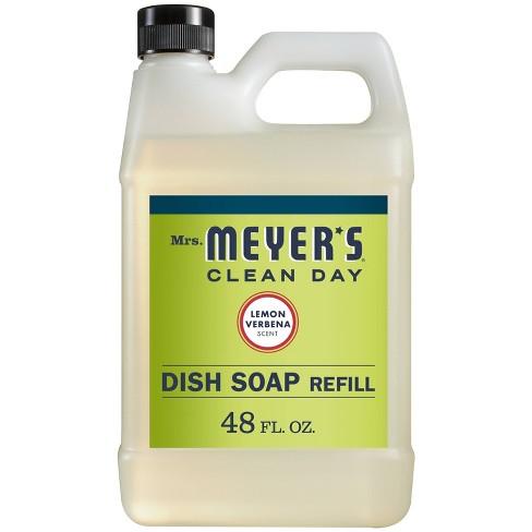 Mrs. Meyer's Lemon Verbena Liquid Dish Refill - 48 fl oz - image 1 of 3