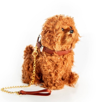 """The Queen's Treasures 18"""" Doll Pet Accessory - Labradoodle Dog With Collar & Leash"""