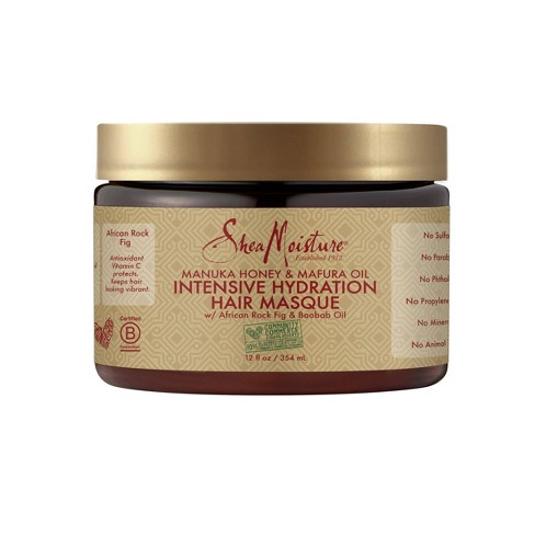 SheaMoisture Manuka Honey & Mafura Oil Intensive Hydration Hair Masque - 12oz - image 1 of 4