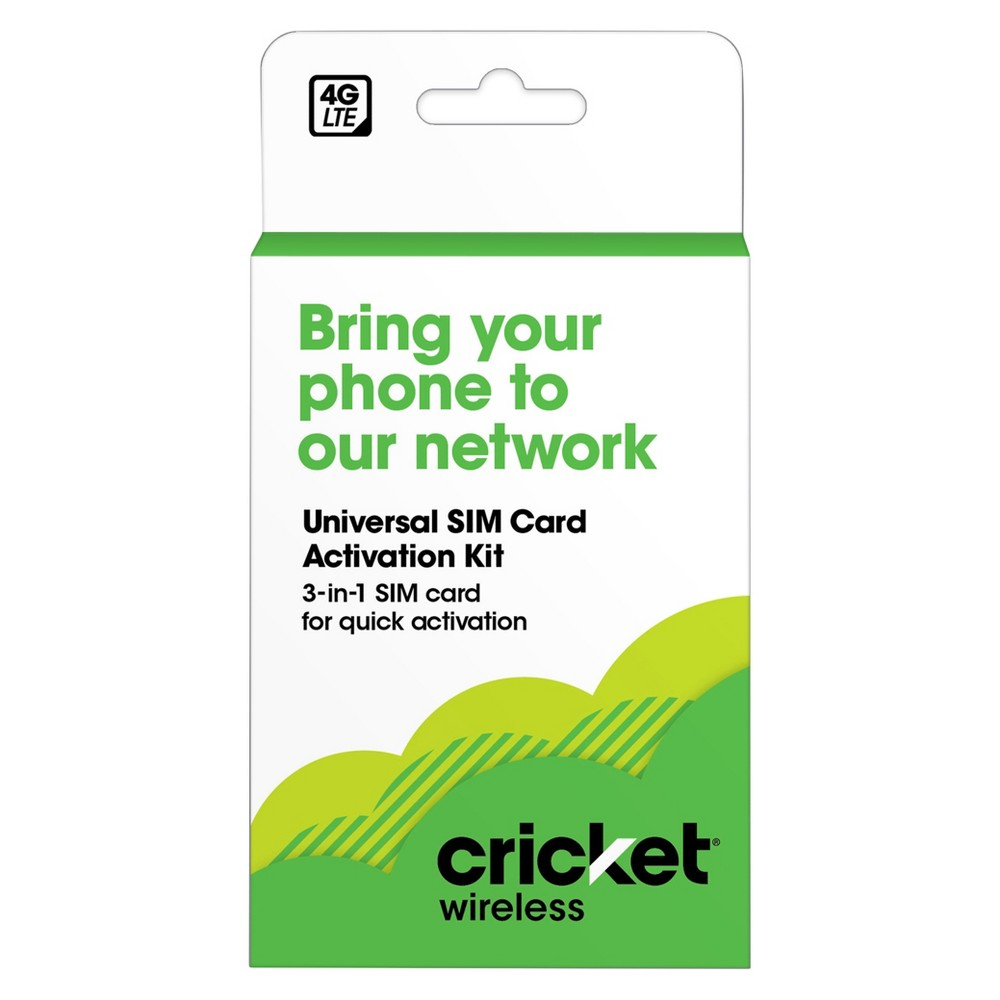 Cricket Byod Sim Kit, Phone Accessories Kit Enjoy a nationwide 4G Lte network with this Cricket Byod Sim Kit. This kit comes in three adjustable sizes for various type of phones and gives you a seamless 4G network. Easy to activate, now you have the option to choose from affordable and simple rate plans.