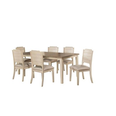 7pc Clarion Rectangle Extendable Dining Table with Side Chairs Cream - Hillsdale Furniture