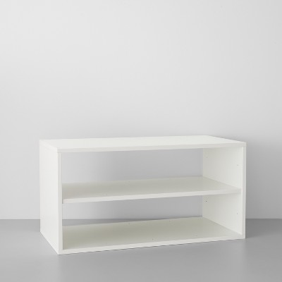 Two Shelf Horizontal Cube White - Made By Design™