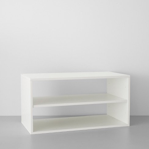 Two Shelf Horizontal Cube White - Made By Design™ - image 1 of 4