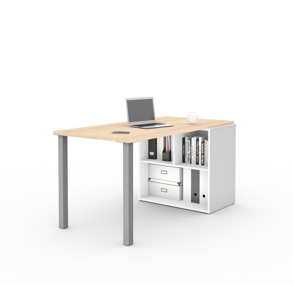 I3 Plus Workstation Northern Maple Brown/White - Bestar