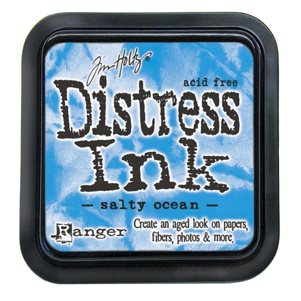 Tim Holtz Distress Ink Pad-Salty Ocean 2.25x2.25, Salty Ocean