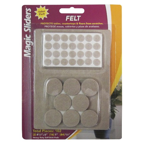 "Magic Sliders Home Helper Felt Pads 102-ct. 1""x0.25"" - image 1 of 1"