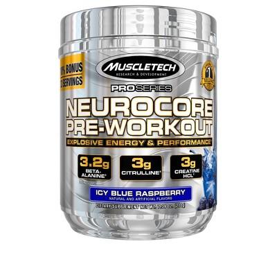 Muscletech Neurocore Pre Workout Powder with Creatine - Icy Blue Raspberry - 7.39oz