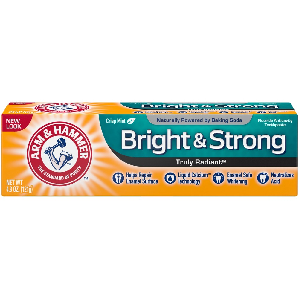 Image of Arm & Hammer Fresh Mint Truly Radiant Fluoride Anticavity Toothpaste - 4.3oz