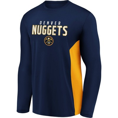 NBA Denver Nuggets Men's Synthetic Long Sleeve T-Shirt - XXL