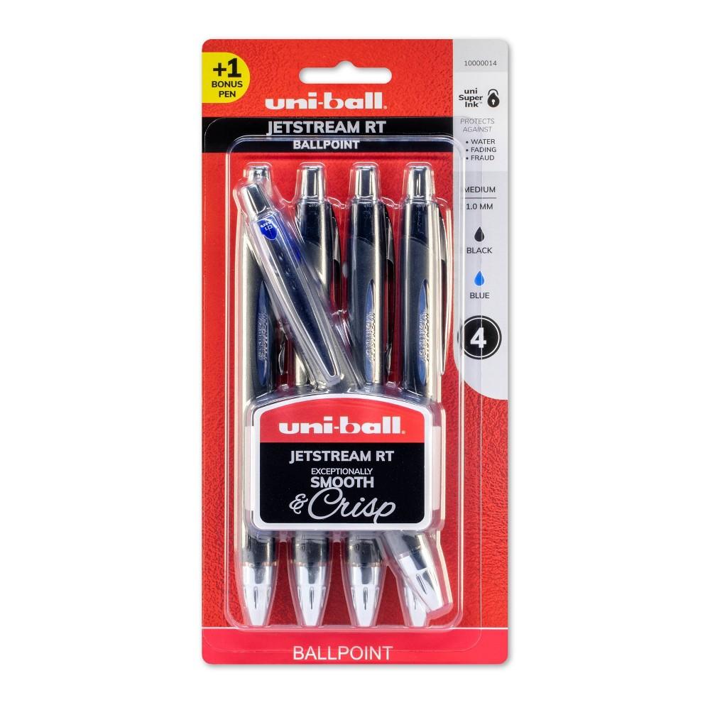 Image of 4ct Ballpoint Pens Jetstream Prime 1.0 Medium Black - Uni-Ball