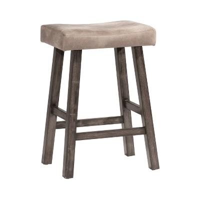 "26"" Tillman Swivel Counter Height Barstool Wood/White - Hillsdale Furniture"