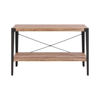 Modern Industrial Console Table Metal/Distressed Wood - Danya B.