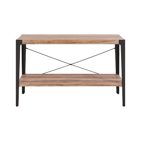 Swell Modern Industrial Console Table Metal Distressed Wood Danya B Download Free Architecture Designs Scobabritishbridgeorg