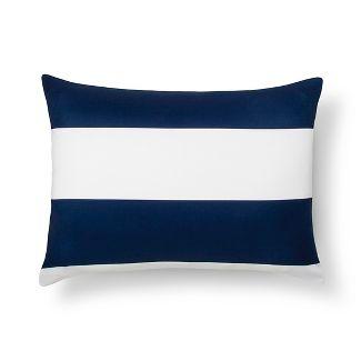 Blue Rugby Stripe Pillow Sham (Standard) - Room Essentials™