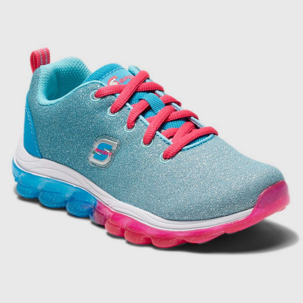 Girls' S Sport by Skechers Tiffani Performance Athletic Shoes - Teal 5, Blue Pink