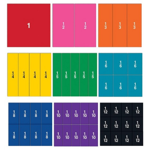 Learning Resources Double-Sided Magnetic Fraction Squares, 51 Pieces - image 1 of 4