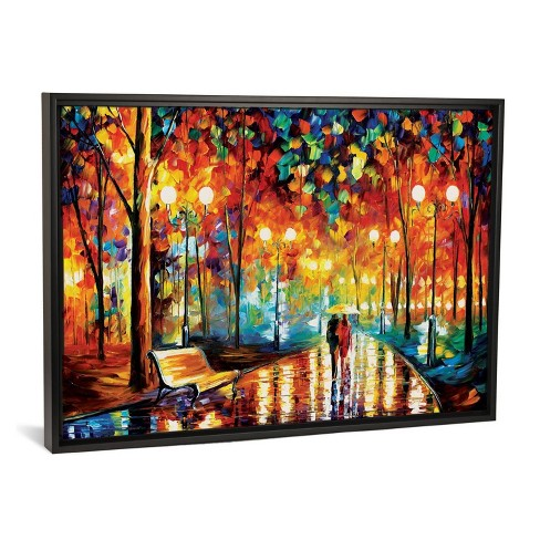 "40"" x 26"" Rain's Rustle by Leonid Afremov Framed Canvas Print Black - iCanvas - image 1 of 3"