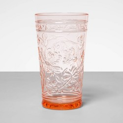 22oz Plastic Floral Embossed Tall Tumbler - Opalhouse™