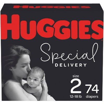 Huggies Special Delivery Hypoallergenic Diapers Super Pack - Size 2 (74ct)