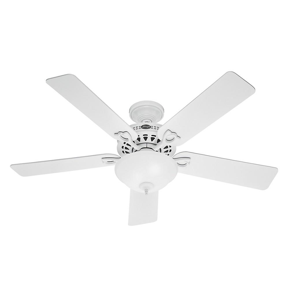 Image of 52 Astoria Lighted Ceiling Fan White - Hunter Fan