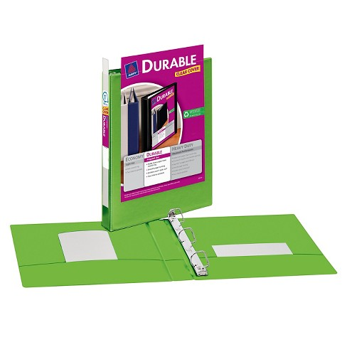 avery 1 clear view 3 ring binder with flexible cover green target