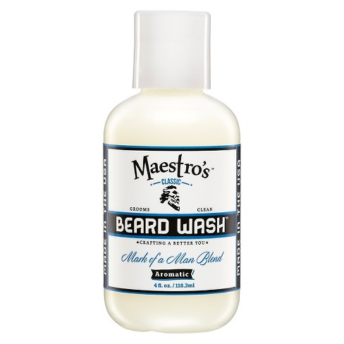 Maestro's Classic Mark of a Man Blend Beard Wash - 4 fl oz