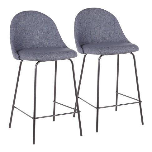 Set of 2 Lana Contemporary Counter Stool - LumiSource - image 1 of 8